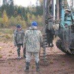 Drilling for soil sampling