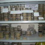 A storage room of soil samples